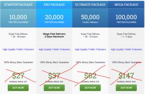 buy twitter followers special offer