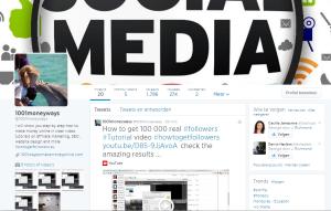new real followers twitter account 1001moneyways